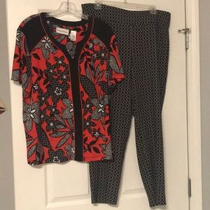 Matching top & pants.